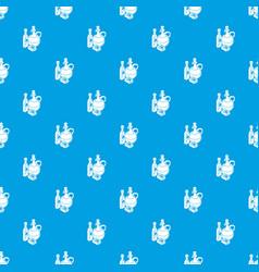 organic eco food pattern seamless blue vector image