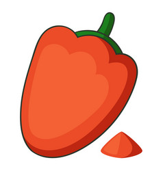 Paprika icon cartoon style vector
