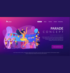 Parade concept landing page vector