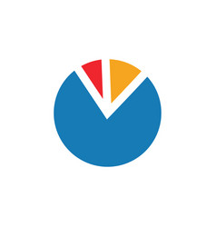 pie chart graphic icon design template vector image