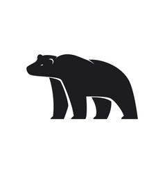 polar bear icon on white background vector image