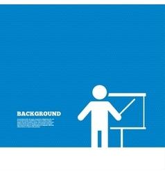 Presentation billboard sign icon vector image