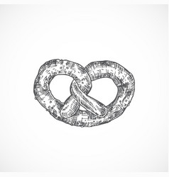 pretzel or brezel bakery abstract sketch hand vector image