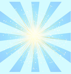 radial blue sun burst beams or sparkles vector image