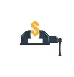 rate cut financial concept graphic metaphor vector image