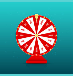 realistic wheel fortune with prizes isolated vector image
