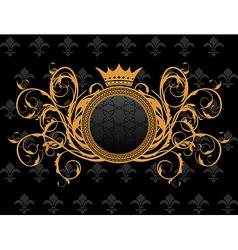 retro frame with heraldic crown vector image