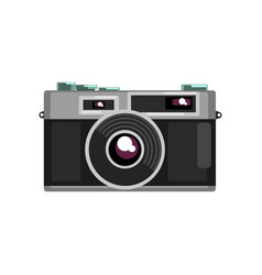 Retro photo slr camera on a vector