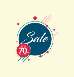 Sale up to 70 template design vector