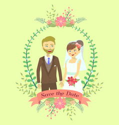 save the date wedding invitation vector image