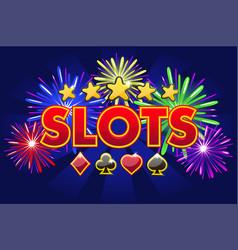 screen logo casino slots banner on blue vector image
