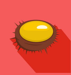 Sea urchin icon flat style vector