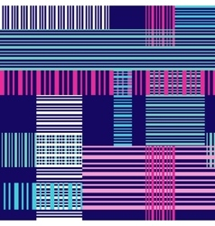 Seamless bright pattern with colorful cross lines vector image