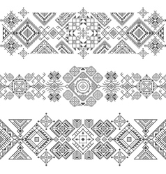 seamless ethnic borders vector image