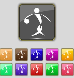 Summer sports basketball icon sign Set with eleven vector
