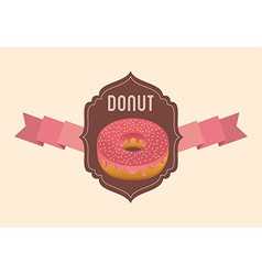 sweet donuts design vector image