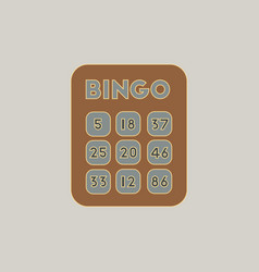 Table game bingo lotto board vector