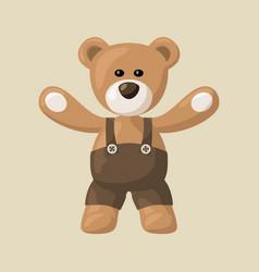 Teddy bear with black pants vector