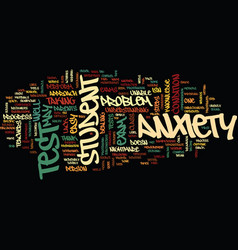 Test anxiety text background word cloud concept vector