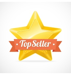 Top Seller star label vector