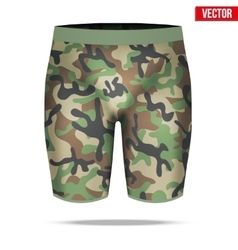 Under layer compression shorts with in camouflage vector