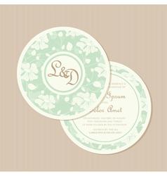 Wedding invitation card round vector