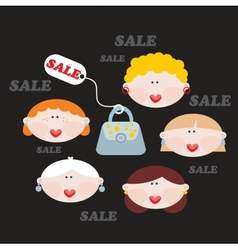 Women and SALE vector image
