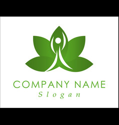 yoga logo design vector image