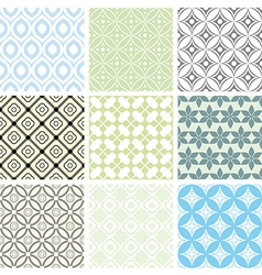 abstract seamless ornament patterns vector image