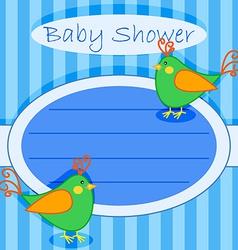 Bird baby shower invitation-boy vector