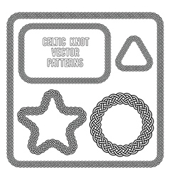 celtic knot patterns vector image vector image