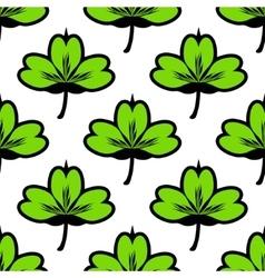 Clover leaf seamless pattern vector image vector image