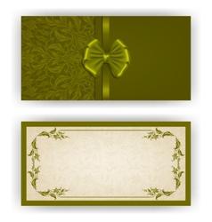 Elegant template for luxury invitation vector image vector image