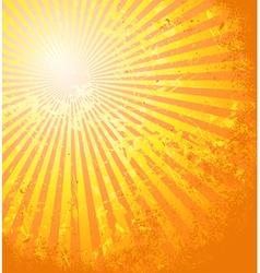 Hot summer sun vector