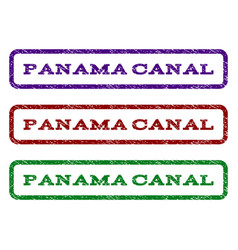 panama canal watermark stamp vector image vector image
