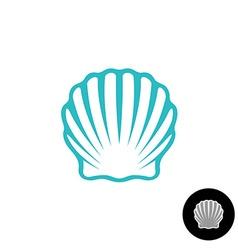Seashell logo Scallop seashell elegant symbol Sea vector image vector image