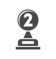 second place prize isolated on white icon vector image