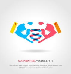 Creative cooperation symbol Business background vector image