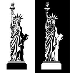 drawing statue of liberty usa symbol vector image