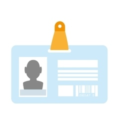 identification card id vector image