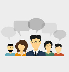 people talk concept vector image