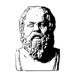portrait of socrates vector image
