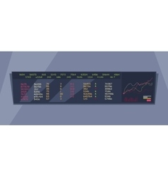 Stock Exchange Index Monitoring Concept vector image vector image