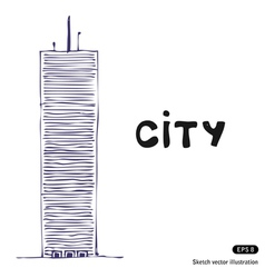Tower building vector image