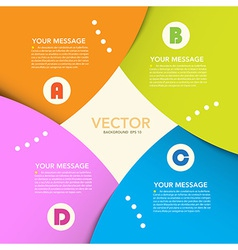 Abstract origami banner background eps10 vector image