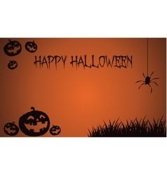 Backgrounds halloween pumpkins and spider vector