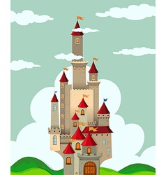 Castle with tall towers vector image