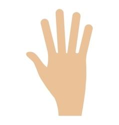 human hand flat icon vector image