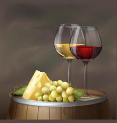 wine still life vector image