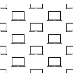 computer notebook seamless vector image vector image